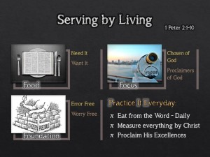 Serving By Living